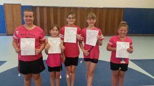 Poppin Pink baton team